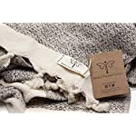 Smyrna Original Turkish Hand Towels Set of 2 | 100% Cotton, 16 x 40 Inches | Decorative Bathroom Peshtemal Towel for Hand, Face, Hair, Gym, Yoga, Tea, Dishcloth, Kitchen and Bath (Beige)