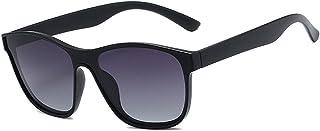 qiufeng - qiufeng Nuevas Gafas de Sol cuadradas polarizadas para Hombres y Mujeres, Gafas de Sol cuadradas para Hombre, diseño de Marca, Lentes de una Pieza, Gafas UV400, Negro, Gris