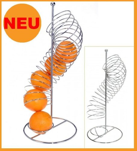 Excellent Houseware Design-ORANGENHALTER Orangenspender CHROM Obstkorb Korb Früchtekorb Geschenkidee