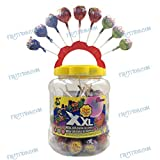 Chupa Chups XXL - Caramelo con palo relleno chicle - 60 Unidades