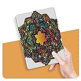 ZHOUHAOMAOYI Coque pour iPad Air 4ème génération - Motif floral mandala abstrait coloré - Coque...