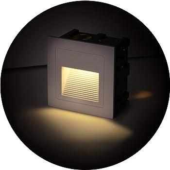 Topmo Plus Lot De 4 Lampe De Spot Led Pour Terrasse 3w Eclairage Encastre Exterieur Pour Chemin Contremarches D Escalier Piscine Interieurs Exterieurs Spots Luminaires Ip65 6 X 6 X 4 6cm Blanc Chaud Amazon Fr