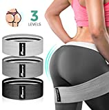 Resistance Bands, Bymore Resistance Bands Booty Bands Set for Butt Legs Tight Glutes, Non Slip Exercise Fabric Hip Bands at Home Workout Bands for Women with Potable Bag (3PACK 15-60lbs Option)