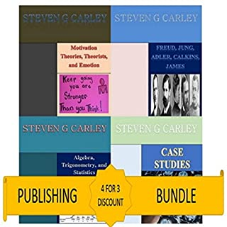 Kindle Publishing Bundle: Case Studies + Algebra, Trigonometry, and Statistics + Freud, Jung, Adler, Calkins, James + Motivation Theories, Theorists, and Emotion audiobook cover art