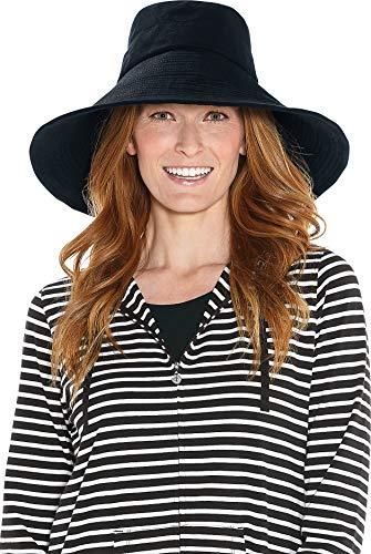 Coolibar Femmes de Plage Protection Solaire UPF 50 + Chapeau Noir Taille Unique