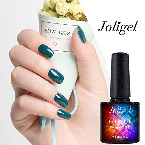 joligel 10 ml Vernis Permanent ongles UV LED Manucure pour Nail Art, vert bleuté, été frais