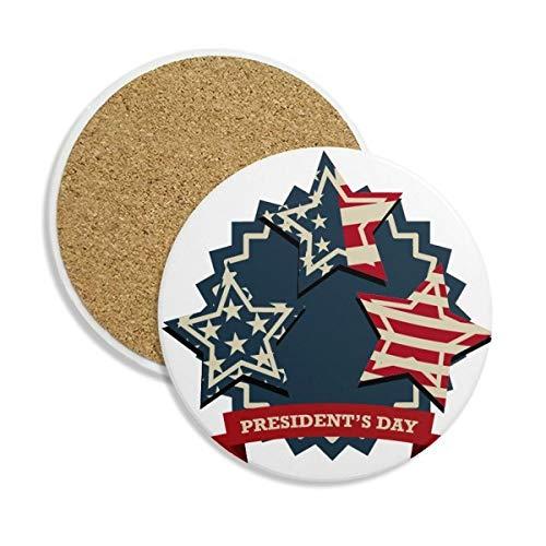DIYthinker Bandera Festival de EE.UU. Presidente celebración Piedra cerámica Beber Cerveza para 2pcs Taza de la Taza del Regalo