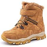 UBFEN Botas de Nieve Botas de Invierno para Niños Invierno Calentar Forrada de Esqui Impermeables Boots 38.5/39 EU A Marrón