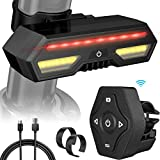 AOMOSA LED Bike Tail Light, USB Rechargeable Bicycle Rear Light, Turn Signal Light With Wireless Remote...