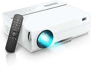 GooDee プロジェクター 1920*1080リアル解像度 4000ルーメン 台形補正 ネイティブ 1080PフルHD パソコン/スマホ/タブレット/ゲーム機接続可能 USB*2/HDMI*2/AV/VGA対応 スピーカー2つ内臓 ホーム/ビジネスプロジェクター 日本語取扱書
