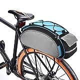 BAIGIO Bolsa Trasera para Bicicleta Multifuncional Bolsa de Asiento Trasero Bolsa de Hombro para Ciclismo al Aire Libre, 13L (Azul)