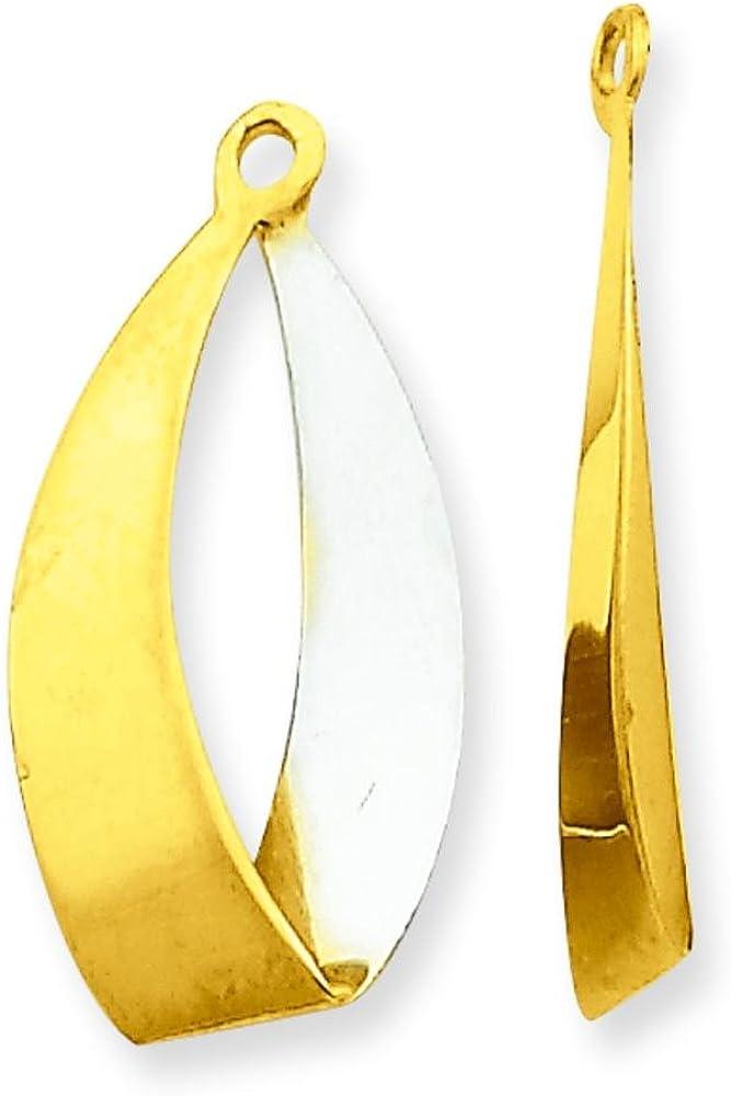 14K Two Tone Gold Reversible Earring Jackets Jewelry