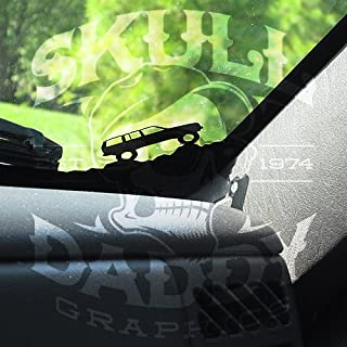 Skull Daddy Graphics 97-01 Jeep Cherokee XJ Corner Climbers Windsheild Stickers Decals