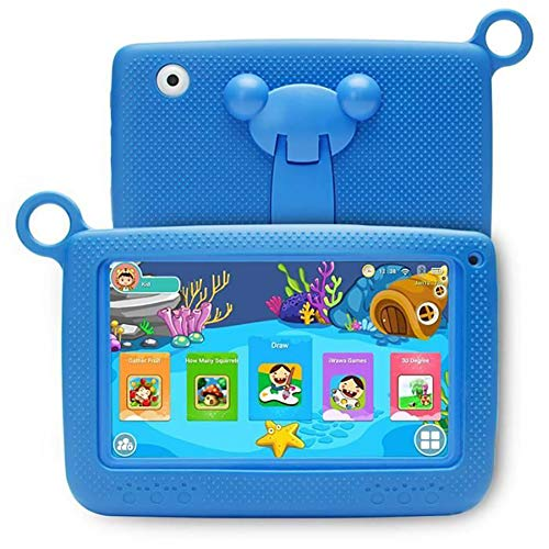 Tablet PC-Childrens Education Tablet PC, 7 Pulgadas, Quad Core 8GB, con Funda de Silicona anticaída