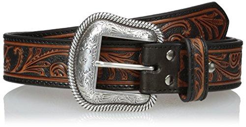 Nocona Boots Herren Black & Brown Scroll Belt Gürtel, braun, 44