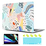 TwoL Plastic Hard Case & Keyboard Cover & Screen Protector Compatible with MacBook Air 13 inch 2018-2020 Release A2337 M1 A2179 A1932 Artistic Floral
