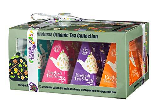 "English Tea Shop - Teegeschenk mit Schleife ""Christmas Ornaments"", BIO-Tee, 12 Pyramiden-Beutel"