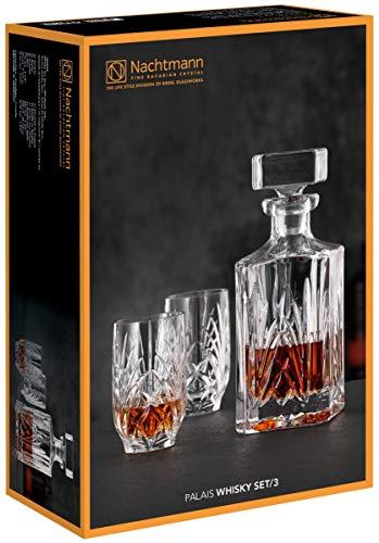 Nachtmann - Whiskyset - Palais - Kristallglas - Karaffe 0,75 l + 2 Tumbler