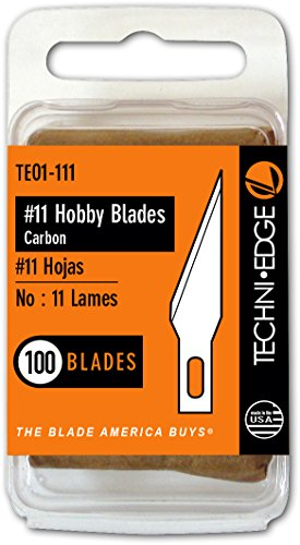Techni Edge TE01-111 No. 11 Hobby Blades, 1-Pack