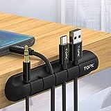 95sCloud Kabelclips Kabelhalter Selbstklebend, 3/5/7-Kanal-Kabel Organizer Vielzwecke Kabelführung Management Clips Kabelwandklammer für Schreibtisch, Netzkabel, USB Ladekabel, Ladegeräte (C)
