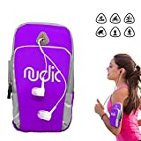 Nudic Fitness Running Armband Phone Holder Bag,Multi Pockets For Phone Of Upto 6.2""