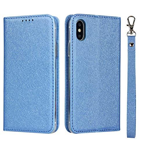 GIMTON iPhone XS Max Hülle, Brieftasche Hülle mit Klapp Ständer und Magnet Verschluss für iPhone XS Max, Stoßfest Kratzfestes PU Leder Schutzhülle, Blau