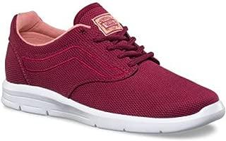 Vans Women's Iso 1.5 Skateboarding Shoe (Mesh) Beet Red/White