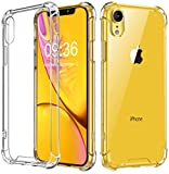 Babacom Funda para iPhone XR, Transparente Carcasa para iPhone XR Absorcion de Choque Cojín de Esquina Parachoques con PC Duro Panel Posterior +...