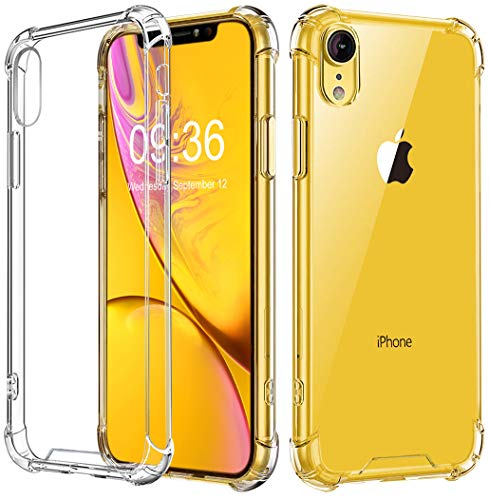 Babacom Cover per iPhone XR, [Cristallo Trasparente] Custodia Shock-Absorption Corner Cushion Bumper con Pannello Posteriore in Hard PC + Cornice in TPU Rinforzato per iPhone XR 6,1 Pollici (2018)