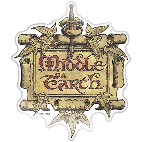 Fan Emblems Middle Earth Car Decal • Clear Resin Coated Automotive Sticker for Cars, Laptops, Most Smooth Surfaces • Officially Licensed Lord of The Rings Gifts, Merchandise, Decor