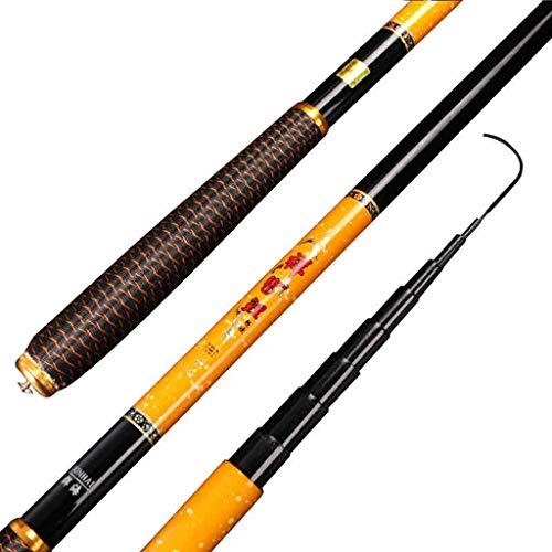YUUGAA Compre uno y llévese Esposas Gratis Juego de cañas de Pescar Combinación Ultra Ligero Súper difícil Secuencia Caña Corta Equipo de Pesca 2.7-6.3 M + Flotante + Grupo de líneas