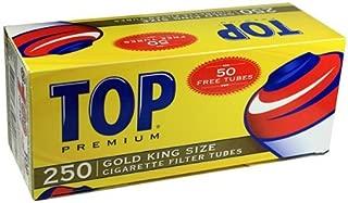 Top Gold Light RYO Cigarette Tubes - King Size 250ct Box