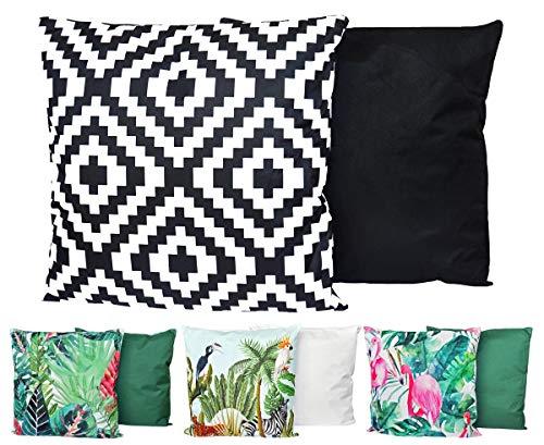 JACK Outdoor Lounge Kissen 45x45cm Motiv Dekokissen Wasserfest Sitzkissen Garten Stuhl, Farbe:Abstrakt