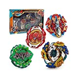 QualiToys Bey Burst Starter Battling Top Fusion Metal Master Rapidity Fight with 4D Launcher Grip Set(4 in 1) (Multicolored)
