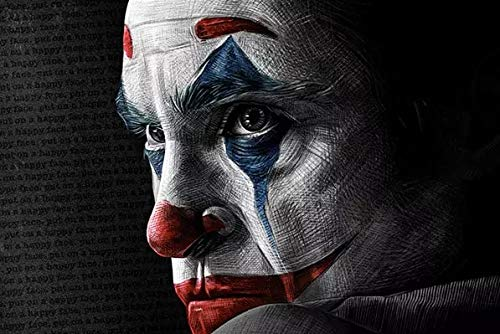 JHGJHK Movie character clown Heath Ledger modern art picture oil painting, home decoration oil painting (picture 17)