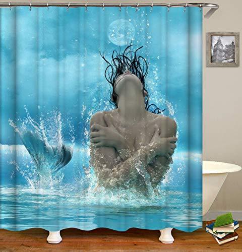 caichaxin Schönes blaues Meer 1 schöne gelbe Haut Frau Schwarze Haare Schöne wasserdichte und verschleißfeste Umgebung