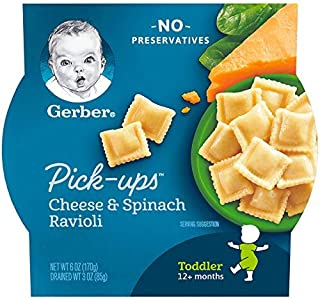 Gerber Cheese Spinach Ravioli PickUps, 170 gm