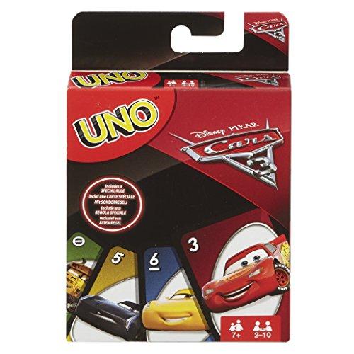 Mattel Games FDJ15 UNO Cars 3 Kartenspiel für Kinder, geeignet für 2 - 10 Spieler, Spieldauer ca. 15 Minuten, ab 7 Jahren