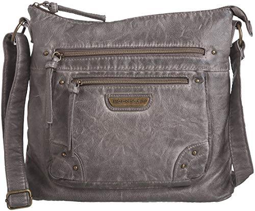 Stone Mountain Smoky Mountain Front Zip Handbag One Size Grey