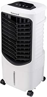 Honeywell Quiet, Low Energy, Compact Portable Evaporative Cooler with Spot Fan & Humidifier, TC09PEU White