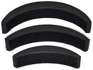 Smark Synthetic Fibre Hair Volumizer Banana Bumpits Puff Maker Hairstyle Accessory, Black (Set of 3 Piece, Black)