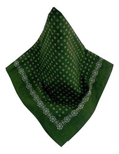 Nickituch mit Punkt-Muster grün | Bandana aus 100% Baumwolle | 70 x 70 cm | Halstuch | Teichmann