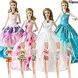 WENTS Robe de Soirée Robe de Mariée Vêtements pour Poupée Noël Cadeau d'anniversaire - 10PCS Style Aléatoire pour 11,5 Pouces Fille poupée poupée vêtements