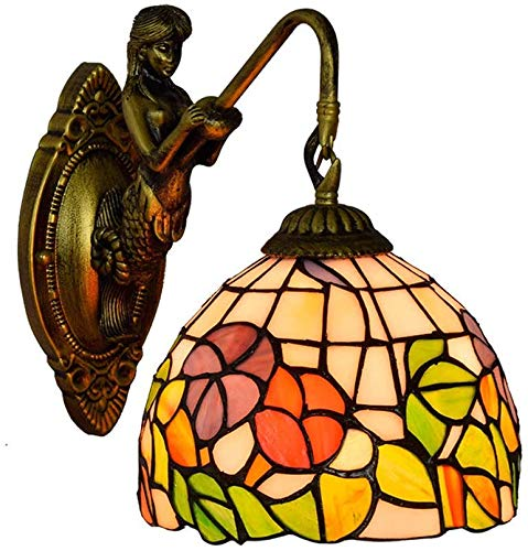 NEXFAN Iluminación Tiffany Style Vitral Aplique De Pared Accesorio para Lámpara Pantalla De 8 Pulgadas