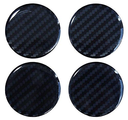 Nabenkappen 3D - 910034 Carbon Schwarz - Felgendeckel Radnabendeckel 60 mm - Hightech-Folie mit sichtbarer Struktur