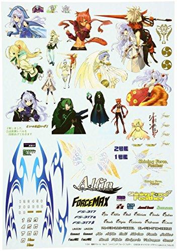 Itasha Decal No.2 Shining Force Feather (Model Car) Aoshima Itasha Decal|No.2 Shining Force Feather (japan import)