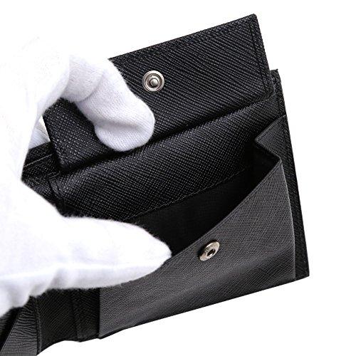(プラダ)PRADAメンズ財布2つ折りMEN'SWALLETブラック2MO738QMEF0002SAFFIANOMETALNERO[並行輸入品]