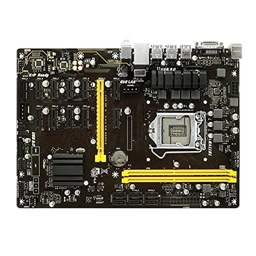 SYFANG Fit for BIOSTAR TB250-BTC Pro 12GPU 12PCIE B250 H110 DDR4 para Placa Base de Escritorio Intel LGA 1151 32GB DVI M.2