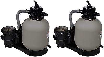 vidaXL 2X Bombas de Filtro de Arena Potencia Accesorios Piscina Limpia de Partículas Tanque Duradero Resistente a la Corrosión 600W Bombeo 17000l/h