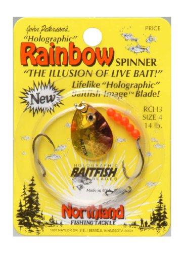 Northland Tackle RCH3-GR Baitfish Spinner Harness Gold Shiner #4